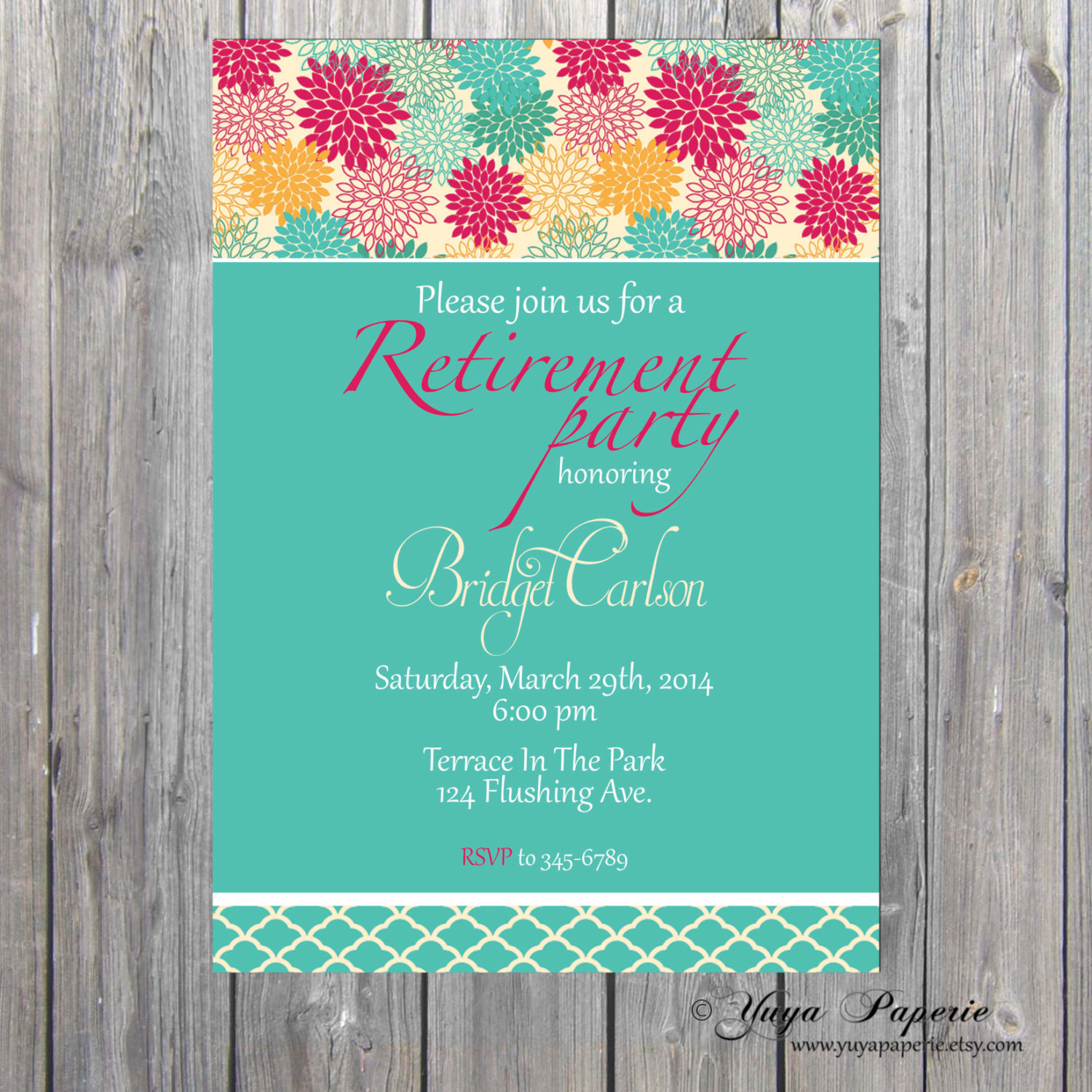 Retirement Invitation, Adult Party Invitation, retirement party ...
